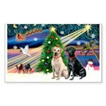 XmasMagic/ 2 Labs (Y&B) Sticker (Rectangle)