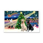 XmasMagic/ 2 Labs (Y&B) Rectangle Car Magnet