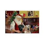 Santa's 2 Labs (Y+B) Rectangle Magnet (10 pack)