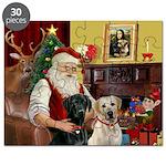 Santa's 2 Labs (Y+B) Puzzle