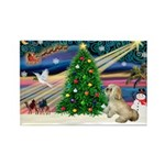XmasMagic/ Lhasa Apso Rectangle Magnet