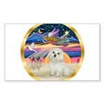 XmasStar/ Maltese # 11 Sticker (Rectangle 10 pk)