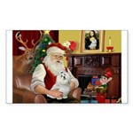 Santa's Maltese Sticker (Rectangle 10 pk)