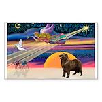 XmasStar/ Newfie Sticker (Rectangle 50 pk)