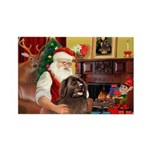 Santa's Newfoundland Rectangle Magnet (10 pack)