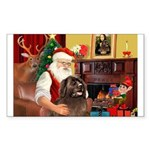 Santa's Newfoundland Sticker (Rectangle)