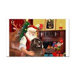 Santa's Newfoundland Rectangle Car Magnet
