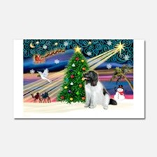 Xmas Magic & Newfie Car Magnet 20 x 12