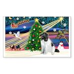 Xmas Magic & Newfie Sticker (Rectangle 50 pk)