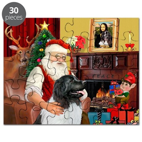 Santa's Newfie (L) Puzzle