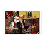 Santa's Newfie Rectangle Car Magnet