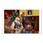 Santa's Norwegian Elk Sticker (Rectangle 10 pk)
