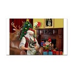 Santa's Norwegian Elk Rectangle Car Magnet