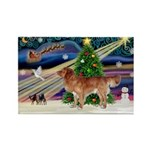 XmasMagic/Nova Scotia Rectangle Magnet (10 pack)