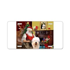 Santa's Old English #5 Aluminum License Plate