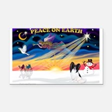 XmasSunrise/Papillon #1 Rectangle Car Magnet