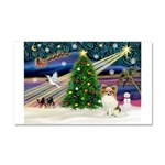 XmasMagic/Papillon Car Magnet 20 x 12