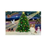 XmasMagic/Papillon Rectangle Magnet (10 pack)