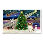 XmasMagic/Papillon Sticker (Rectangle 50 pk)