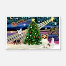 XmasMagic/Papillon Rectangle Car Magnet