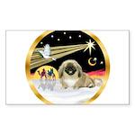 Wisemen/Pekingese Sticker (Rectangle 50 pk)