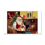 Santa's Pekingese Car Magnet 20 x 12