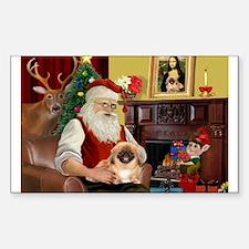 Santa's Pekingese Decal