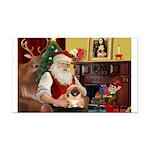 Santa's Pekingese Rectangle Car Magnet