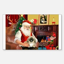 Santa's Pekingese Decal