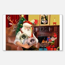 Santa's 2 Pekingese Decal