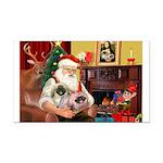 Santa's 2 Pekingese Rectangle Car Magnet