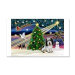 Xmas Magic/PBGV (#1) Car Magnet 20 x 12