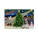 Xmas Magic/PBGV (#1) Rectangle Magnet (10 pack)