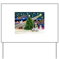 Xmas Magic/PBGV (#1) Yard Sign