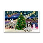 Xmas Magic/PBGV (#1) Rectangle Car Magnet