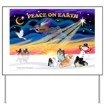 XmasSunrise/4 Poms Yard Sign