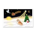 Night Flight/Pomeranian Rectangle Car Magnet