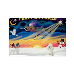 XmasSunrise/Poodle Min Rectangle Magnet (10 pack)