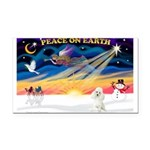 XmasSunrise/Poodle Min Rectangle Car Magnet