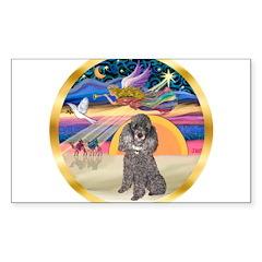 XmasStar/Silver Poodle #8 Sticker (Rectangle 10 pk