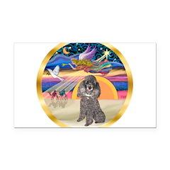 XmasStar/Silver Poodle #8 Rectangle Car Magnet