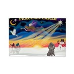 XmasSunrise/Poodle (min) Rectangle Magnet (10 pack