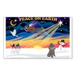 XmasSunrise/Poodle (min) Sticker (Rectangle 10 pk)