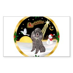 Night Flight/Silver Poodle Decal