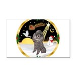 Night Flight/Silver Poodle Rectangle Car Magnet