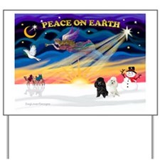 XmasSunrise/2 Poodles Yard Sign
