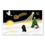 Night Flight/Poodle (min) Sticker (Rectangle 10 pk