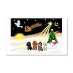 Night Flight/4 Poodles Car Magnet 20 x 12