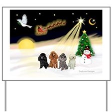Night Flight/4 Poodles Yard Sign