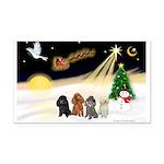 Night Flight/4 Poodles Rectangle Car Magnet